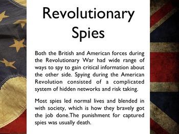 American Revolutionary War - Spies PowerPoint