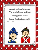 American Revolutionary War Study Guide and Test {GA 4th Grade Standards}