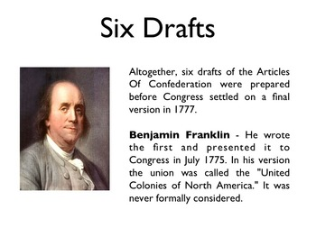 American Revolutionary War - The Articles Of Confederation PowerPoint
