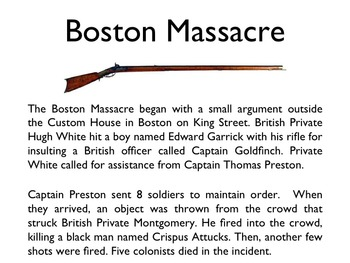 American Revolutionary War - The Boston Massacre PowerPoint