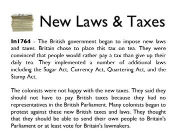 American Revolutionary War - The Boston Tea Party PowerPoint