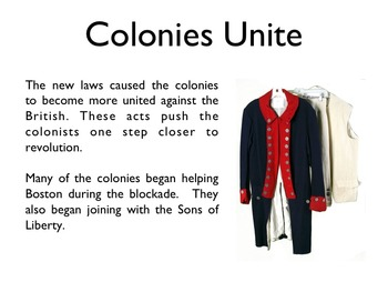 American Revolutionary War - The Intolerable Acts PowerPoint