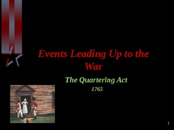 American Revolutionary War - The Quartering Act