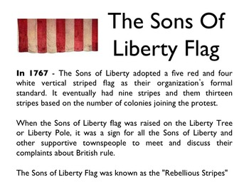 American Revolutionary War - The Sons Of Liberty PowerPoint