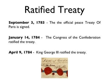 American Revolutionary War - The Treaty Of Paris PowerPoint
