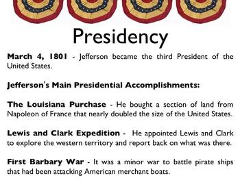 American Revolutionary War - Thomas Jefferson PowerPoint