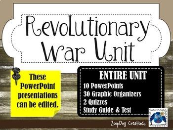 American Revolutionary War UNIT