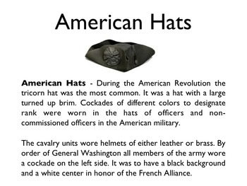 American Revolutionary War - War Uniforms PowerPoint
