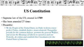 American Rights of Citizens Notes for Principles of Law