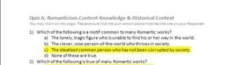 American Romanticism (Lecture, Activities, Quiz, Diagram)