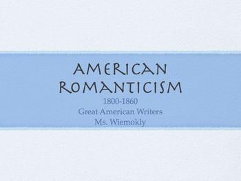 American Romanticism Literature Notes
