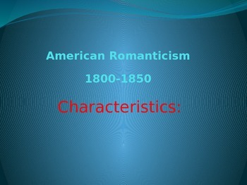 Romanticism: Background Powerpoint