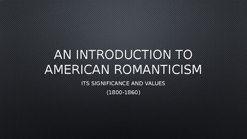 what is american romanticism