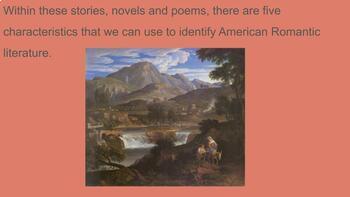 American Romanticism and Transcendentalism Slide Show