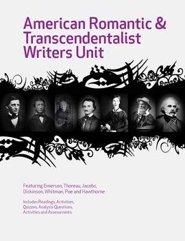 American Romantic and Transcendentalist Writers Unit