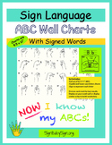 American Sign Language ABC Wall Charts, Alphabet handwriting ASL