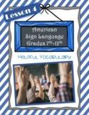 American Sign Language ASL 1 | Lesson 4 | Helpful Vocabulary