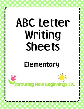 ASL (American Sign Language) - ABC Writing Sheets - Elementary