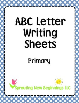 ASL (American Sign Language) - ABC Writing Sheets - Primary
