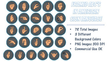 American Sign Language (ASL) ABC's Framed