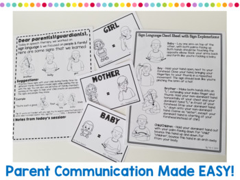 American Sign Language (ASL) Activities for People & Family Words