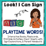 American Sign Language (ASL) Printable Activities for Playtime Words