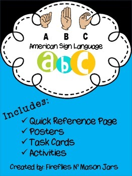 American Sign Language (ASL) Alphabet