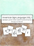 American Sign Language ASL - Alphabet Letter Sequencing and Identification