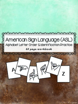 American Sign Language ASL - Alphabet Letter Sequencing an