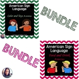 #DeafEdMustHave American Sign Language BUNDLE - Food, Drinks, Colors, & Toys