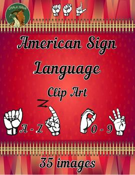 American Sign Language ASL Clip Art