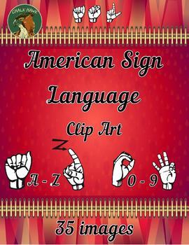 American Sign Language ASL Clip Art