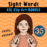 Dolch Words BUNDLE - American Sign Language ASL Set