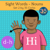 American Sign Language ASL Clip Art - Dolch Words Nouns SET 2