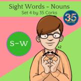 American Sign Language ASL Clip Art - Dolch Words Nouns SET 4