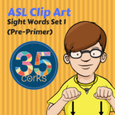 American Sign Language ASL Clip Art - Dolch Words Set 1 - Pre-Primer Words