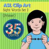 American Sign Language ASL Clip Art - Dolch Words Set 2 - Primer Words