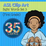 American Sign Language ASL Clip Art - Dolch Words Set 3 - First Grade Words