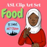 American Sign Language ASL Clip Art Set - Common Foods