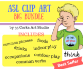 American Sign Language ASL Clip Art - Big Bundle
