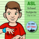 School Subjects, Classes, and Terms - American Sign Language ASL Clip Art