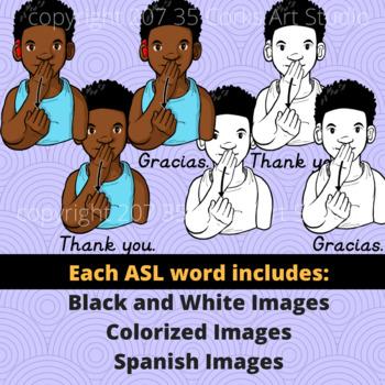 American Sign Language ASL Clip Art Set - Common Phrases