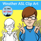 American Sign Language ASL Clip Art Set - Weather