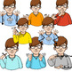 American Sign Language ASL Clip Art Set - Weather