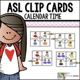American Sign Language ASL Clip Cards - Calendar Time