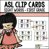American Sign Language ASL Clip Cards - First Grade Sight Words