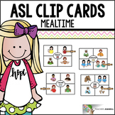 American Sign Language ASL Clip Cards - Mealtime