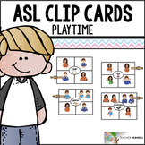 American Sign Language ASL Clip Cards - Playtime