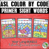 ASL American Sign Language Color by Primer Sight Words