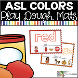 American Sign Language ASL Colors Play Dough Mats